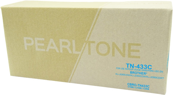 Brother TN433 cartouche cyan toner produit pearltone® compatible avec brother-1/paquet. - S.O.S Cartouches inc.