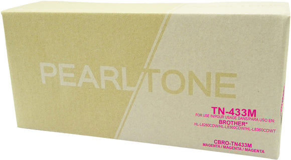 Brother TN433 cartouche toner magenta produit pearltone® compatible avec brother-1/paquet. - S.O.S Cartouches inc.