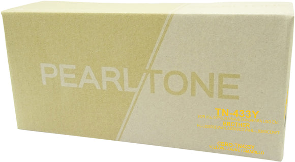Brother TN433 cartouche toner jaune produit pearltone® compatible avec brother-1/paquet. - S.O.S Cartouches inc.
