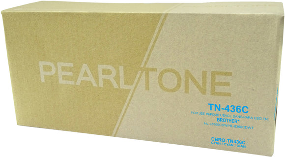 Brother TN436 cartouche toner cyan version à haut rendement de TN433 produit pearltone® compatible avec brother-1/paquet. - S.O.S Cartouches inc.