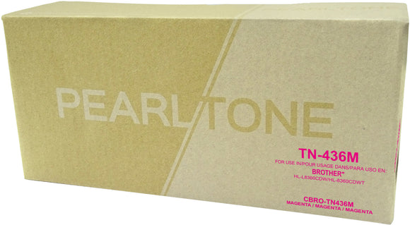 Brother TN436 cartouche toner magenta version à haut rendement de TN433 produit pearltone® compatible avec brother-1/paquet. - S.O.S Cartouches inc.