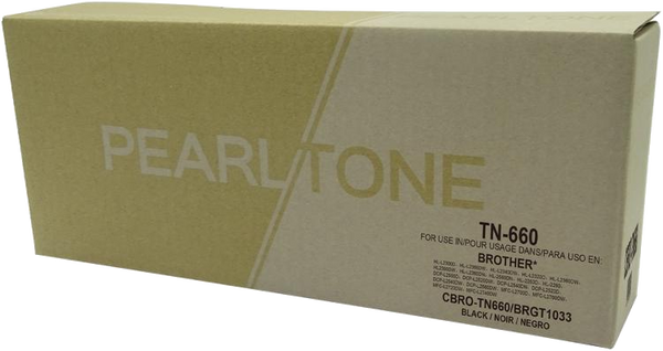 Pearltone® - Black High Yield TN-660 Toner Cartridge (TN660BK) - Economy Model.