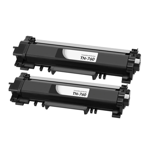Brother TN760 cartouche toner noire version à haut rendement de TN730 produit pearltone® compatible avec brother-2/paquet. - S.O.S Cartouches inc.