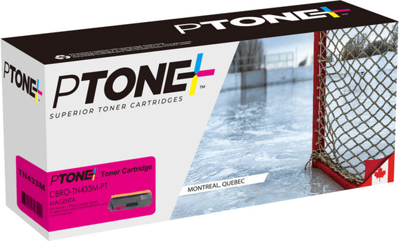 Brother TN433 cartouche toner magenta produit ptone® compatible avec brother-1/paquet. - S.O.S Cartouches inc.