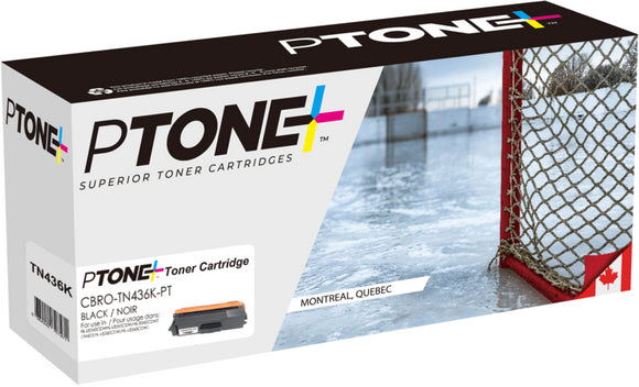 Brother TN436 cartouche toner noire version à haut rendement de TN433 produit ptone® compatible avec brother-1/paquet. - S.O.S Cartouches inc.