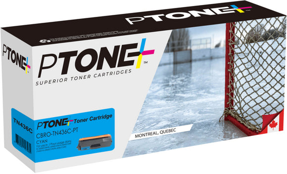 Brother TN436 cartouche toner cyan version à haut rendement de TN433 produit ptone® compatible avec brother-1/paquet. - S.O.S Cartouches inc.