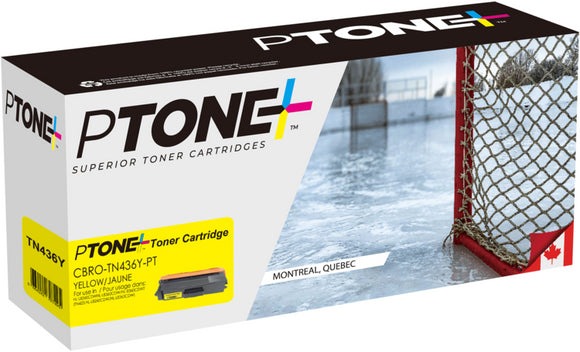 Brother TN436 cartouche toner jaune version à haut rendement de TN433 produit ptone® compatible avec brother-1/paquet. - S.O.S Cartouches inc.