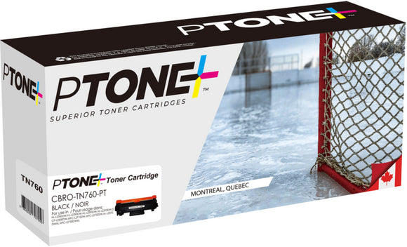 Brother TN760 cartouche toner noire version à haut rendement de TN730 produit ptone® compatible avec brother-1/paquet. - S.O.S Cartouches inc.