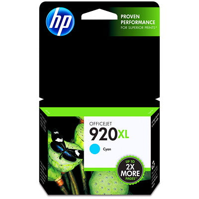 920xl CD972AN cartouche toner d'encre cyan version à haut rendement de 920 CD971AN produit authentique pour HP-1/paquet - S.O.S Cartouches inc.