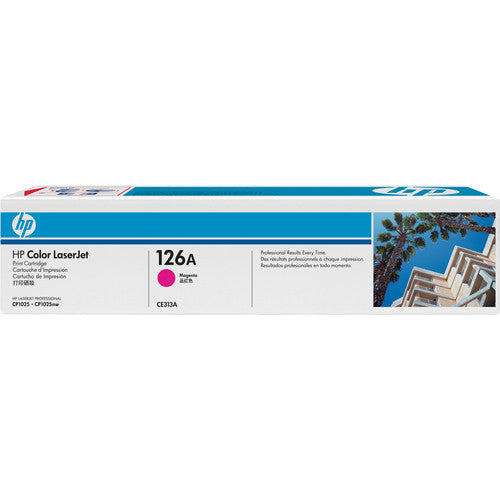 HP® – Cartouche Toner LaserJet 126A magenta rendement standard (CE313A) - S.O.S Cartouches inc.