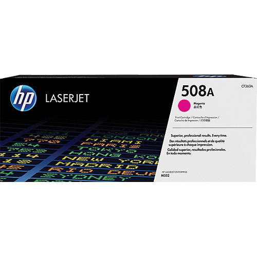 HP® – Cartouche Toner LaserJet 508A magenta rendement standard (CF363A) - S.O.S Cartouches inc.