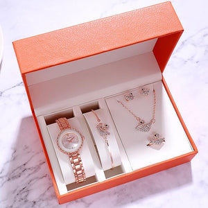 Women's 5 in 1 Watch & Jewelry Set
