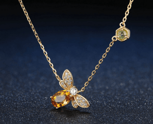 Queen Bee Necklace in Sterling Silver