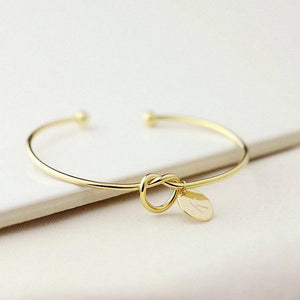 """Knot of Commitment"" Initials Bangle Bracelet"
