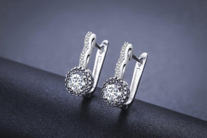 Zircon Hoop Silver Earrings - Auric Jewelers