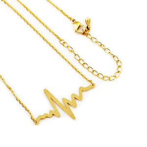 Heartbeat Necklace in Stainless Steel