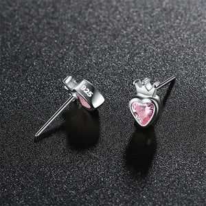 Queen of Hearts Silver Earrings