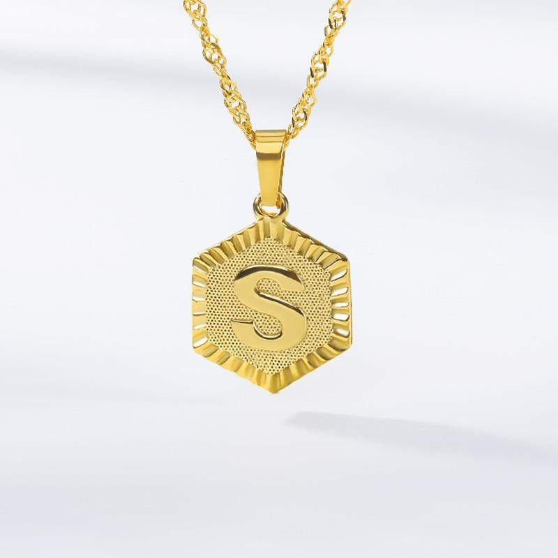 Initials Medallion Necklace