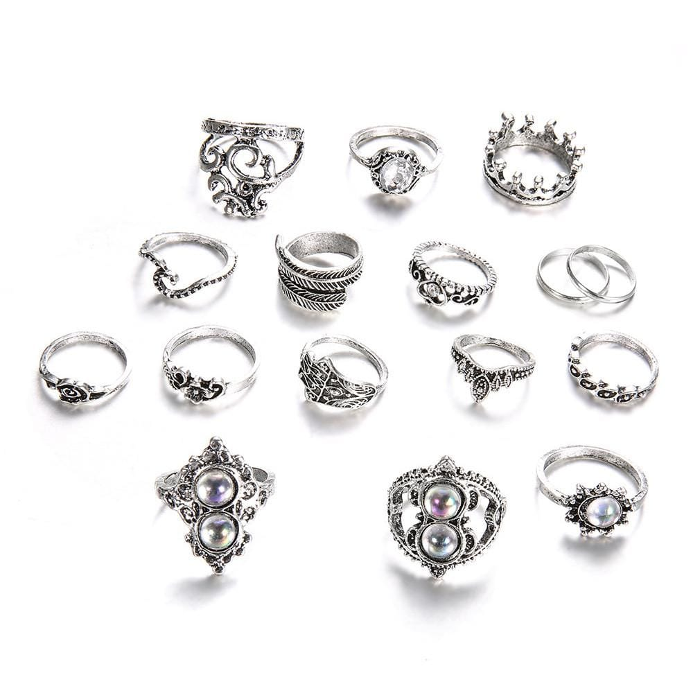 Snow Queen Ring Set