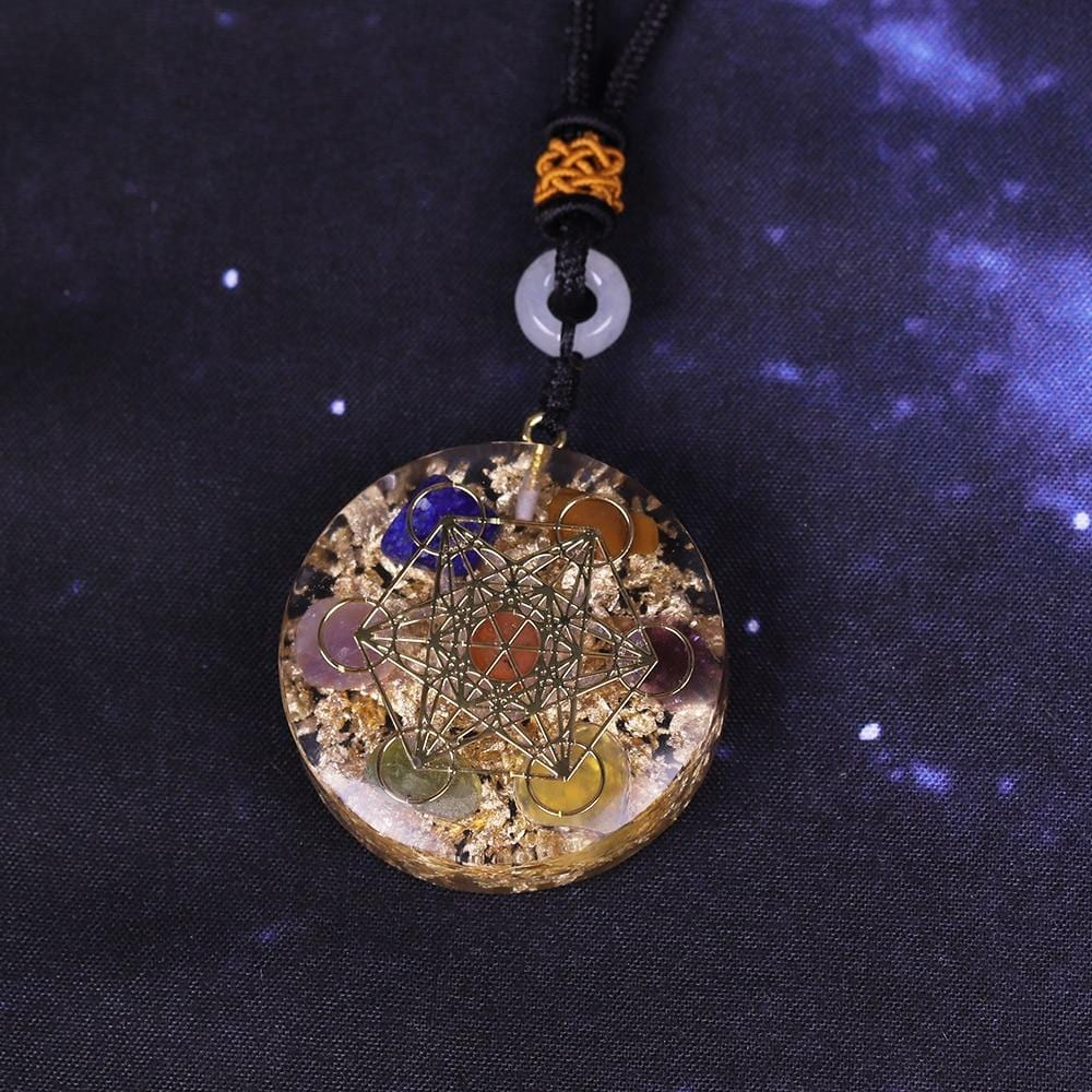 Reiki Orgonite Chakra Alignment Necklace