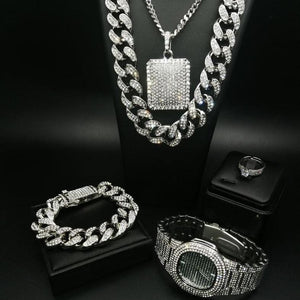 Iced Out™ Men's Luxury Jewelry Set