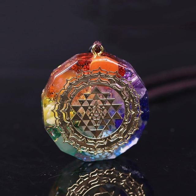 Sri Yantra Orgonite Chakra Alignment Necklace
