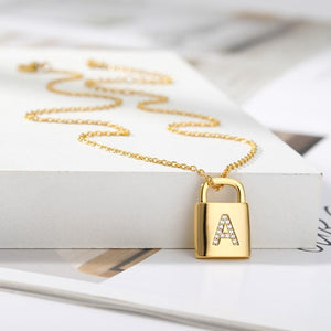Initial Lock Necklace