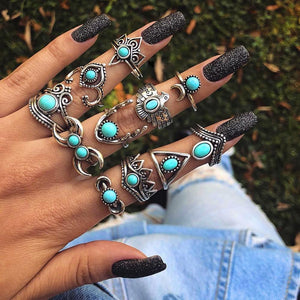 Sky Queen Ring Set - Auric Jewelers