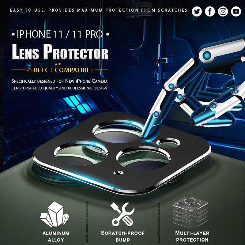 Lens Protector For iPhone (BUY 1 GET 1 FREE)
