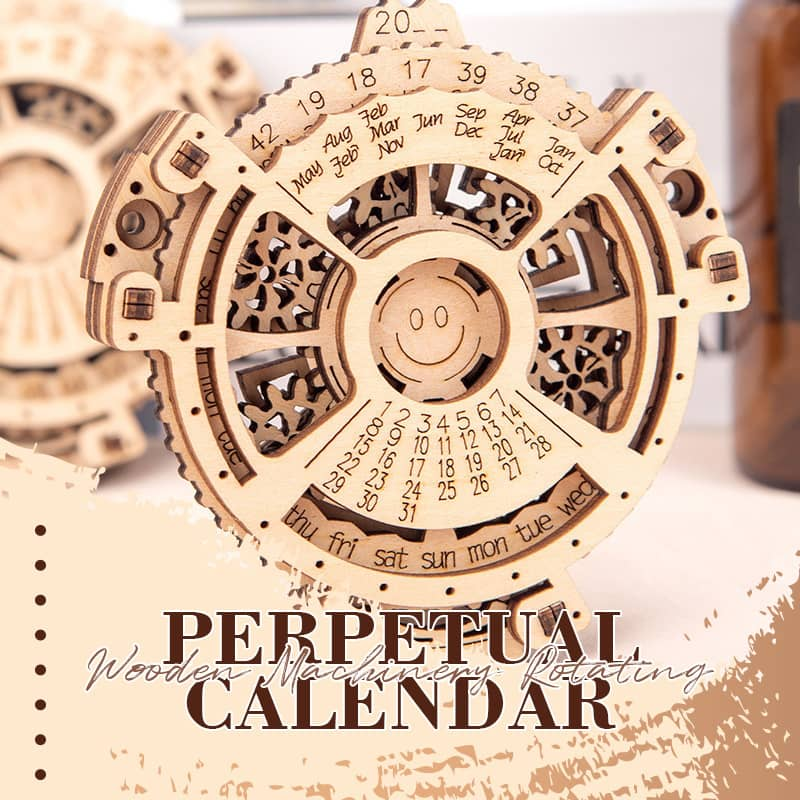 Wooden Machinery Rotating Perpetual Calendar