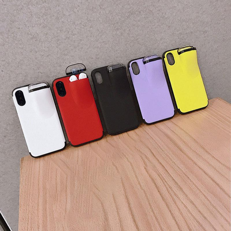 2 in 1 Phone Case Wireless Headset Storage Case For iPhone