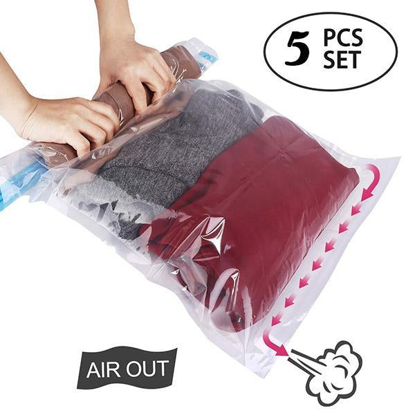 Manual Rolling Vacuum Compression Bag (5pcs)