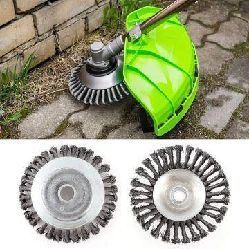 Garden weeding wire brush head