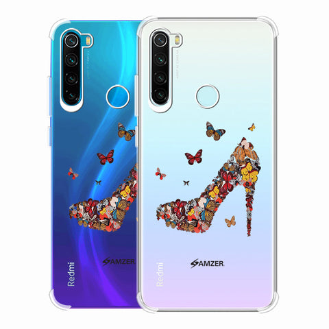 Butterfly High Heels Soft Flex Tpu Case For Redmi Note 8