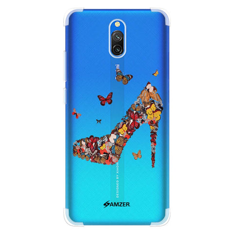 Butterfly High Heels Soft Flex Tpu Case For Redmi 8A Dual