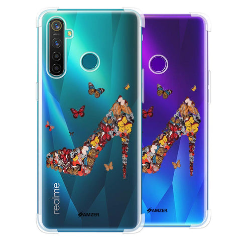Butterfly High Heels Soft Flex Tpu Case For Realme 5 Pro