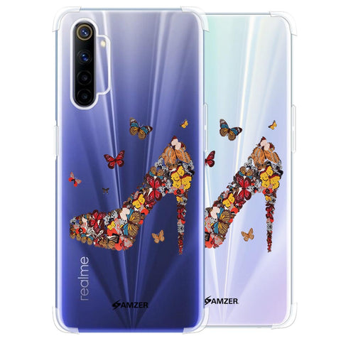 Butterfly High Heels Soft Flex Tpu Case For Realme 6