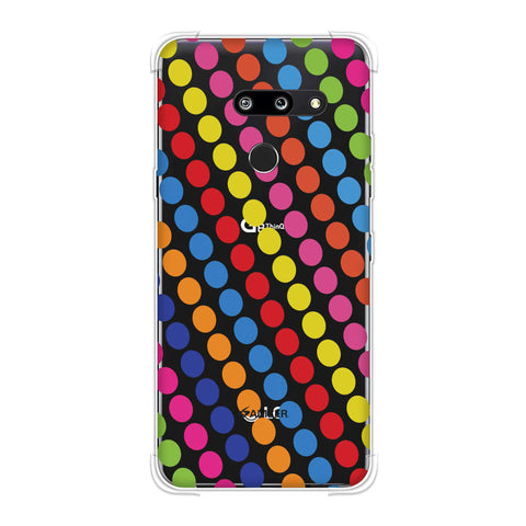 Funky Dot Stripes Soft Flex Tpu Case For LG G8 ThinQ