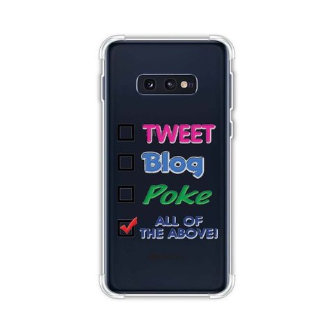 Tweet Soft Flex Tpu Case For Samsung Galaxy S10e