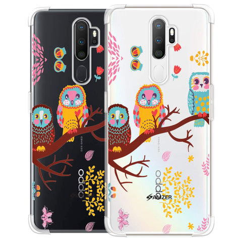 Owls On Branch Soft Flex Tpu Case For Oppo A5 2020