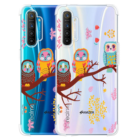 Owls On Branch Soft Flex Tpu Case For Realme XT
