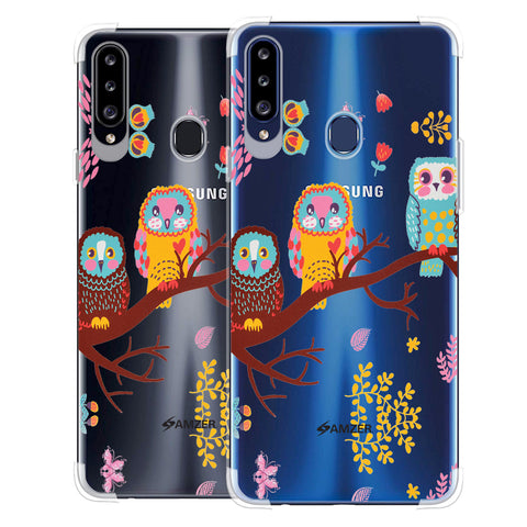 Owls On Branch Soft Flex Tpu Case For Samsung Galaxy A20s