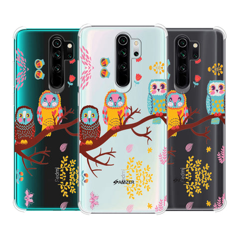 Owls On Branch Soft Flex Tpu Case For Redmi Note 8 Pro
