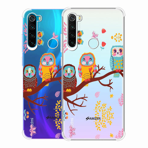 Owls On Branch Soft Flex Tpu Case For Redmi Note 8