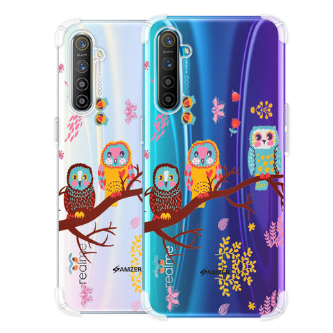 Owls On Branch Soft Flex Tpu Case For Realme X2