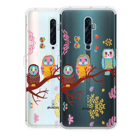 Owls On Branch Soft Flex Tpu Case For Oppo Reno2 F
