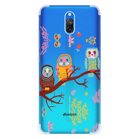 Owls On Branch Soft Flex Tpu Case For Redmi 8A Dual