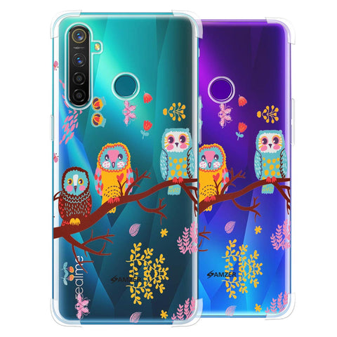 Owls On Branch Soft Flex Tpu Case For Realme 5 Pro