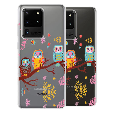 Owls On Branch Soft Flex Tpu Case For Samsung Galaxy S20 Ultra