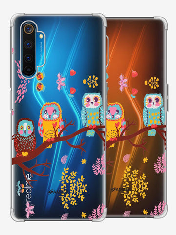 Owls On Branch Soft Flex Tpu Case For Realme 6 Pro